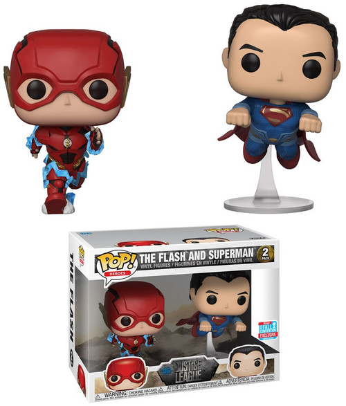 Funko DC Justice League Movie POP! Movies The Flash & Superman Exclusive Vinyl Figure
