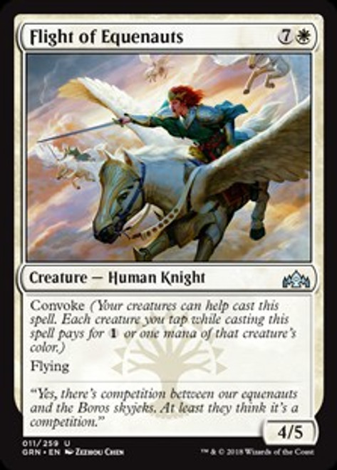 MtG Guilds of Ravnica Uncommon Flight of Equenauts #11