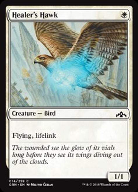 MtG Guilds of Ravnica Common Healer's Hawk #14
