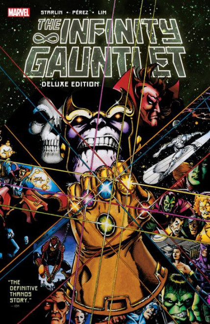 Marvel Comics Infinity Gauntlet Deluxe Edition Soft Cover Trade Paperback Comic Book