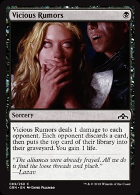 MtG Guilds of Ravnica Common Vicious Rumors #89