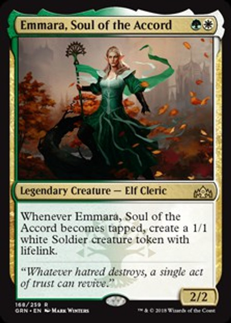 MtG Guilds of Ravnica Rare Emmara, Soul of the Accord #168