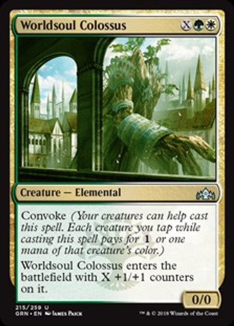 MtG Guilds of Ravnica Uncommon Worldsoul Colossus #215