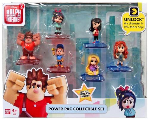 Disney Wreck-It Ralph 2: Ralph Breaks the Internet Power Pac Series 1 Felix, Vanellope, Ralph, Merida, Mulan & Rapunzel Exclusive 3-Inch Figurine 6-Pack