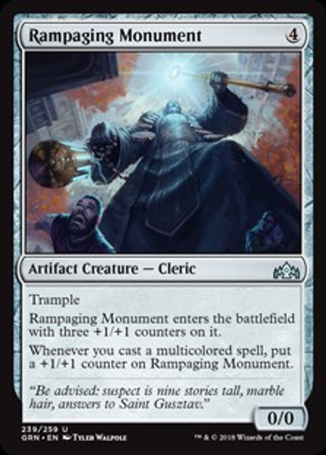 MtG Guilds of Ravnica Uncommon Rampaging Monument #239