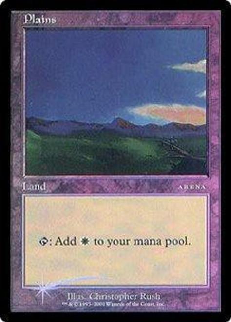 MtG Arena Promo Plains [Arena 2001] [Played]