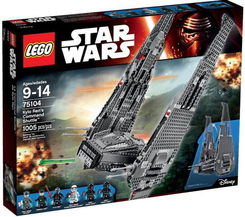 LEGO Star Wars The Force Awakens Kylo Ren's Command Shuttle Set #75104 [Damaged Package]