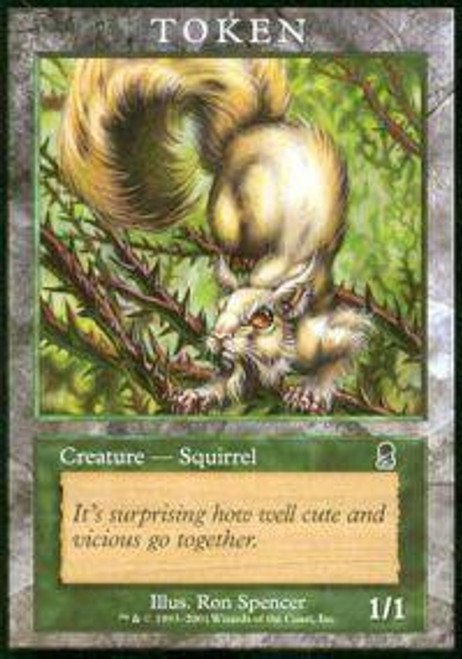 MtG Promo Cards Squirrel Token Card [Player Rewards Promo] [Played]