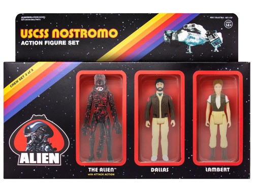 ReAction Dallas, Lambert & Bloody Xenomorph Alien Action Figure 3-Pack
