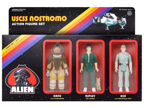 ReAction Alien Ash, Ripley & Kane Action Figure 3-Pack