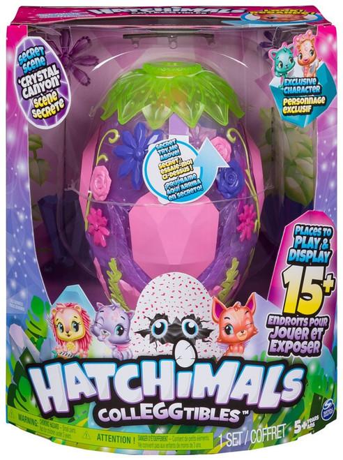 Hatchimals Colleggtibles Secret Scene Crystal Canyon Playset