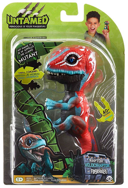 Fingerlings Untamed Dinosaur Mutant the Velociraptor Figure [Red & Blue]