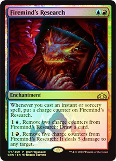 MtG Prerelease & Release Promo Firemind's Research [Guilds of Ravnica Draft Weekend]