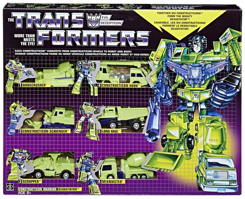 Transformers Gen 1 2018 Reissue Devastator Exclusive Figure 6-Pack [Constructicon Warrior]