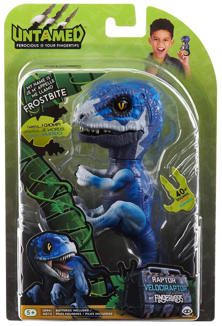 Fingerlings Untamed Dinosaur Frostbite the Velociraptor Figure [Blue]
