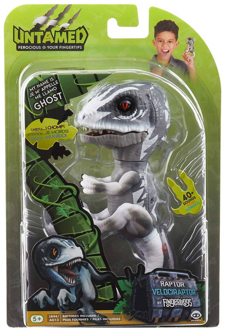 Fingerlings Untamed Dinosaur Ghost the Velociraptor Figure [Gray]