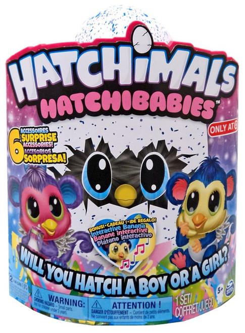 Hatchimals Hatchibabies Monkiwi Exclusive Magical Creature [RANDOM Color]
