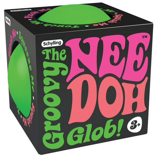 NeeDoh The Groovy Glob Super GREEN 4.5-Inch Large Stress Ball (Pre-Order ships December)