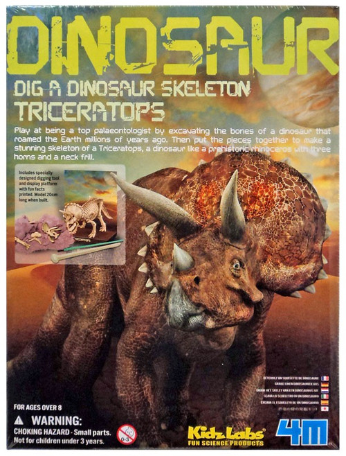 Kidz Labs Dig a Dinosaur Skeleton Triceratops