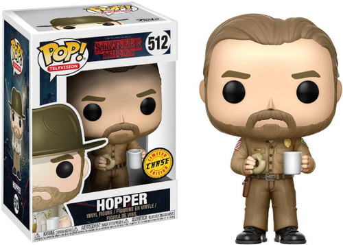 Funko Stranger Things POP! TV Hopper with Donut Chase Figure Vinyl Figure [Without Hat, Chase Version, Damaged Package]