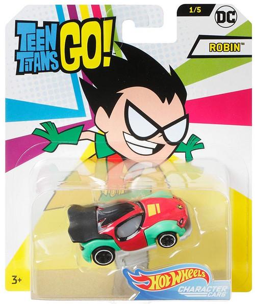 Hot Wheels Teen Titans Go! Character Cars DC Robin Die-Cast Car #1/5
