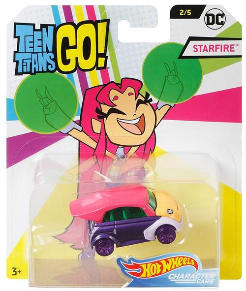 Hot Wheels Teen Titans Go! Character Cars DC Starfire Die-Cast Car #2/5