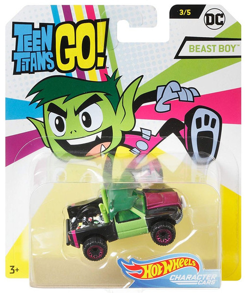 Hot Wheels Teen Titans Go! Character Cars DC Beast Boy Diecast Car #3/5