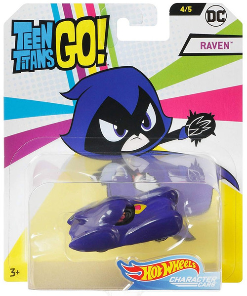 Hot Wheels Teen Titans Go! Character Cars DC Raven Die-Cast Car #4/5