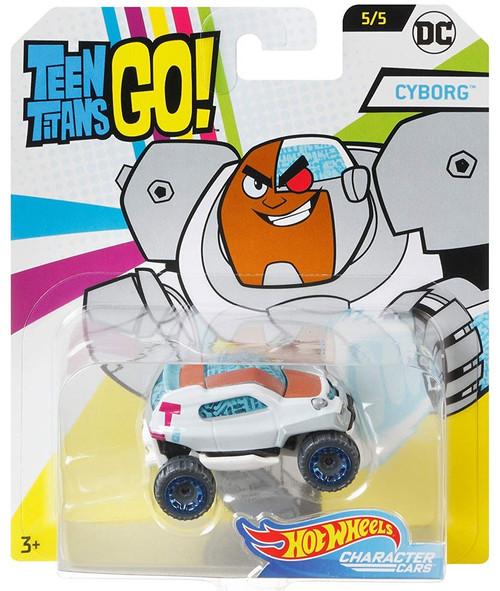 Hot Wheels Teen Titans Go! Character Cars DC Cyborg Diecast Car #5/5