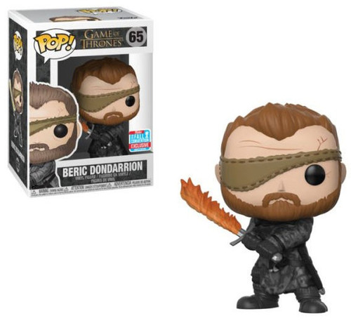 Funko Game of Thrones POP! TV Beric Dondarrion Exclusive Vinyl Figure #65 [Flame Sword]