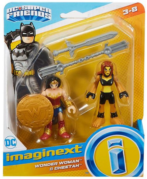 Fisher Price DC Super Friends Imaginext Wonder Woman & Cheetah Figure Set [Version 1]