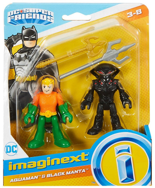 Fisher Price DC Super Friends Imaginext Aquaman & Black Manta Figure Set