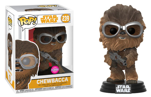 Funko Solo POP! Star Wars Chewbacca Exclusive Vinyl Bobble Head #239 [with Goggles, Flocked]