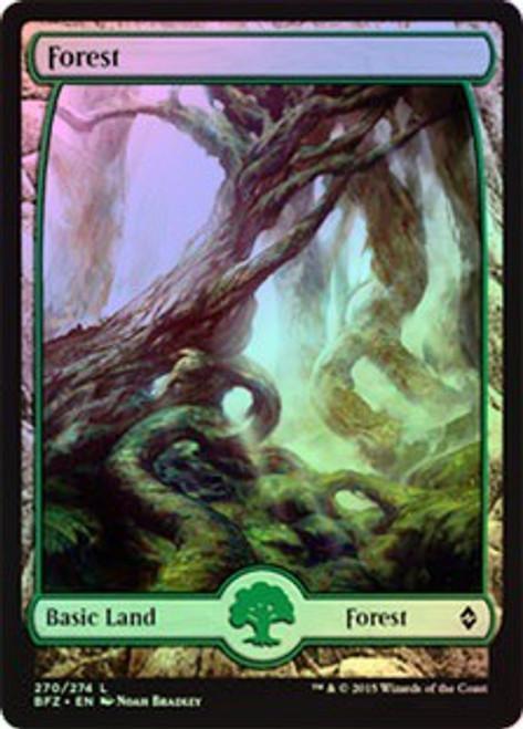 MtG Battle for Zendikar Land Foil Forest #270