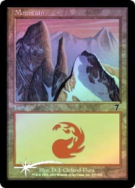 MtG 7th Edition Basic Land Foil Mountain #337