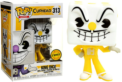 Funko Cuphead POP! Games King Dice Vinyl Figure #313 [Yellow Suit, Chase Version, Damaged Package]