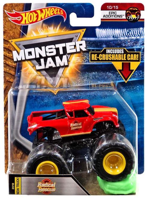Hot Wheels Monster Jam Radical Rescue Die-Cast Car #10/15 [Epic Addtions]