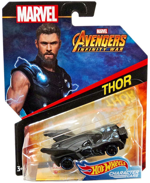 Hot Wheels Avengers Infinity War Character Cars Thor Die-Cast Car