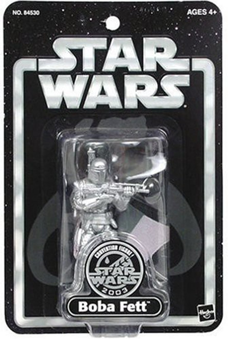Star Wars Exclusives Boba Fett Exclusive Action Figure [Silver, Damaged Package]