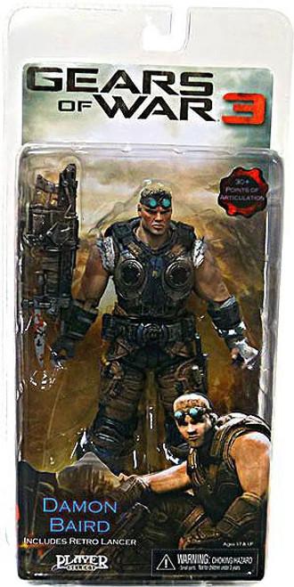 NECA Gears of War 3 Series 2 Damon Baird Action Figure [Retro Lancer, Damaged Package]