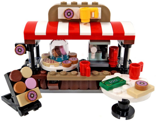LEGO City Doughnut Stand with Sign and Table [Loose]