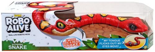 Robo Alive Slithering Snake Robotic Pet Figure [Red]