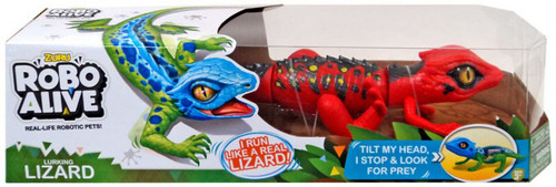 Robo Alive Lurking Lizard Robotic Pet Figure [Red / Black]