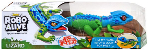 Robo Alive Lurking Lizard Robotic Pet Figure [Green & Blue, Blue Head]