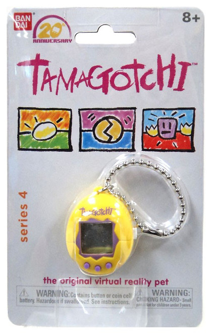 Tamagotchi 20th Anniversary Series 4 Yellow & Purple 1.5-Inch Virtual Pet Toy