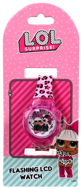 LOL Surprise Flashing LCD Watch Watch [Leopard Print]