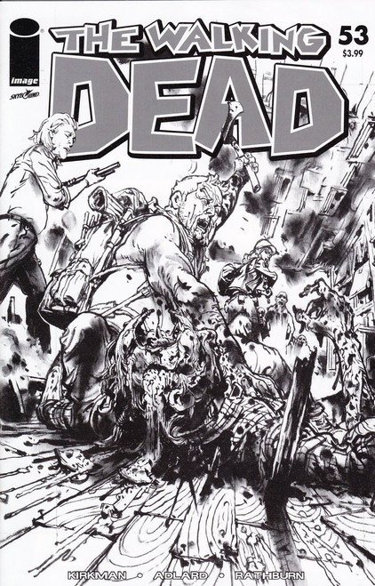 Image Comics The Walking Dead #53 Comic Book [Black & White Walking Dead Day Cover]