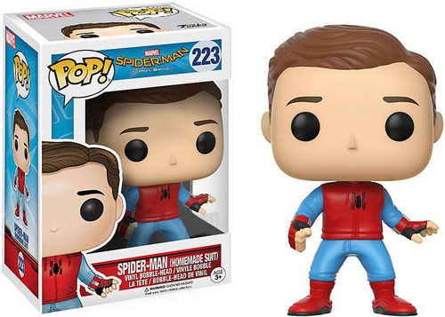 Funko Spider-Man: Homecoming POP! Marvel Spider-Man (Homemade Suit) Exclusive Vinyl Bobble Head #223 [Unmasked, Damaged Package]