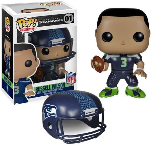 Funko NFL Seattle Seahawks POP! Sports Football Russel Wilson Vinyl Figure #01 [Blue Uniform, Damaged Package]