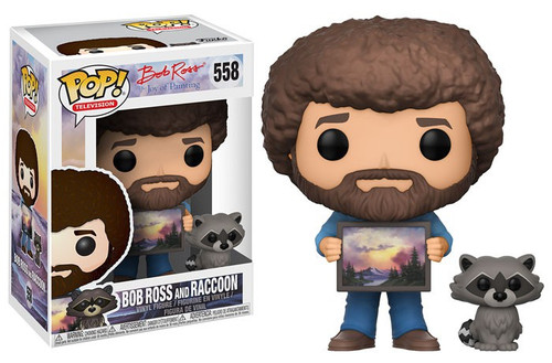 Funko Joy of Painting POP! TV Bob Ross & Raccoon Vinyl Figure #558 [Regular Version, Damaged Package]